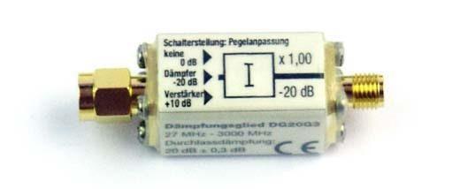 Atténuateur DG20_G10 : Pour HFE35/HF58B/HF58B-r/HF59B/HFE59B