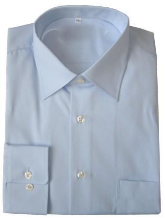 Chemise homme écran bleue ciel popeline contre les hautes fréquences