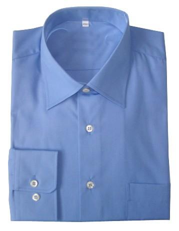 Chemise homme écran popeline bleue roi contre les hautes fréquences