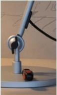 Pied rond pour lampe de bureau blindée