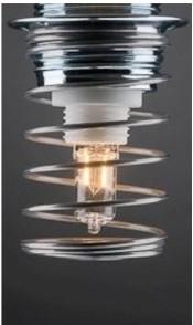 Spirale blindée pour lampe de bureau