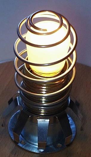 spirale blindée lampe de sel
