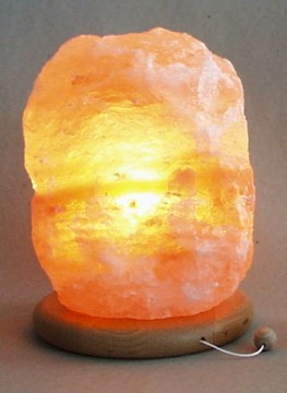 socle en bois blindé pour lampe de cristal de sel