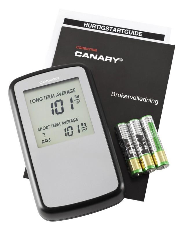 canary dosimètre digital de radon