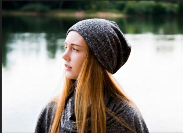 Beanie écran ELONI - Gris chiné