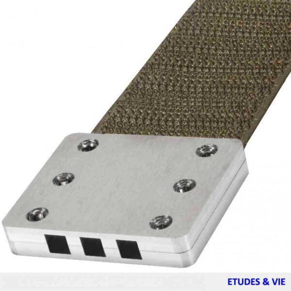 Plaque de mise à la terre avec velcro conducteur pour tous les tapis écran contre les hautes fréquences