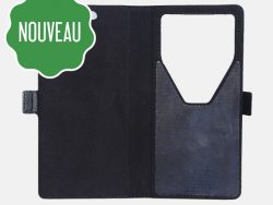 Etui anti-ondes universel grand format noir (book clips coulissants)